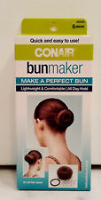 Conair 6 Piece Black/Brown Bun Maker Kit