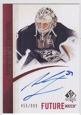 2010 10-11 SP Authentic #269 Anders Lindback AU RC autograph rookie 455/999