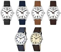 Limit Classic Round Dial Leather Strap Gents Watch Brown Black Blue Tan Chrome