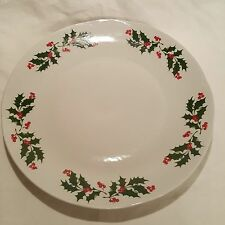 "Apulum Porcelain Holly Berry Holiday Dinner Plate 10"" Romania"