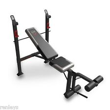 Adjustable Standard Bench Press w/ Leg Extensions Incline Decline Flat Home Gym