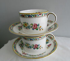 PATTERN MING ROSE BY COALPORT FLAT CUPS AND SAUCERS LOT