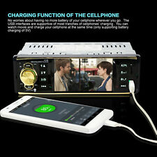 """87.5-108MHz HD Car Stereo MP5 Player Auto Video Radio Bluetooth 4.1"""" 1 DIN AUX/F"""