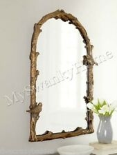 """Large BIRD BRANCH ARCH 37"""" Wall Mirror Vanity Mantle Neiman Marcus Tree Natural"""