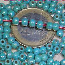 120 Abalorios Doble Brillo Howlite4mm M770  Turquesas Beads Cuentas Turquoise
