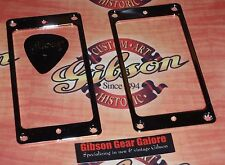 Gibson Les Paul Standard HP Pickup Mounting Ring Chrome Cover Set Guitar Parts T
