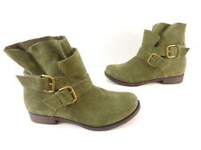 Women's KENNETH COLE REACTION 'GURRL TALK' Slip On Suede Boots Green Size 7 M
