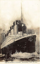 S. S. Titanic Steam Ship Foundered April 15, 1912  RPPC Real Photo Postcard
