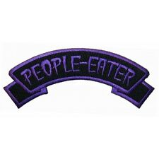 """People Eater"" Tag Zombie Horror Kreepsville Embroidered Iron On Applique Patch"