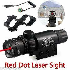 Tactical Red Laser Scope Sight W/Remote Switch + Dual Mount for Rifle Shotgun
