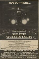 27/8/83PN24 ADVERT: COLUMBIA PICTURES PRESENTS BLUE THUNDER 8X5