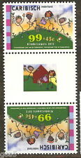 Caribisch Nederland 2012  CHARITY CHILDREN STAMP  gutterpair  mnh us