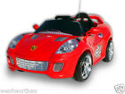HOT SALE 2016 RIDE ON CAR KID TOY RED FERRARI SPORTS ELECTRIC w REMOTE 12M WNTY