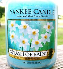 "Yankee Candle Retired ""SPLASH OF RAIN"" Fresh Scented 22 oz.~ WHITE LABEL~ NEW"