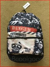 Walking Dead Theme Infected Area Danger Zone Backpack HTF FreeShip Priority Mail