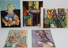 Lot 5 New Vintage 1988 Pablo Picasso Postcards Abstract Paintings Lady Girl P1