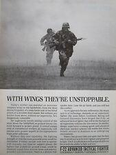 7/1990 PUB LOCKHEED GENERAL DYNAMICS BOEING YF-22 FIGHTER USAF GROUND TROOPS AD