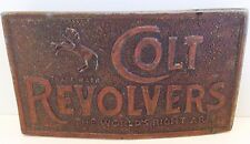 Vintage Colt Revolvers Metal Belt Buckle Reproduction 1970s