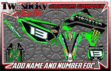 KAWASAKI Kfx Kx 125/150/250/450 Motocross MX Gráficos Pegatinas todos los años