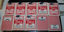 10 decks Bee Club Special Playing Cards red Deck Casino Quality - retired red