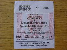28/01/1976 Ticket: Stoke City v Manchester City [FA Cup] (Folded). Item In very