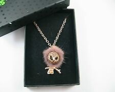 m Style Lab Gold Tone Rhinestone Owl Pendant Long Necklace