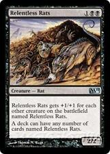 RELENTLESS RATS M11 Magic 2011 MTG Black Creature — Rat Unc