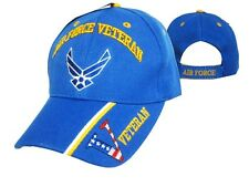 US Air Force Veteran Patriotic Ball Cap OIF OEF Vietnam Korea Vet USAF V Hat