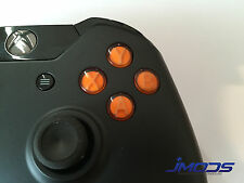 Xbox One 1 Custom ABXY Buttons with Letters Mod Kit (Orange)