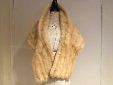 LUXE ladies Champagne blonde mink fur cape shawl wrap coat jacket, excellent