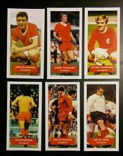 Lot of 6 LIVERPOOL Score UK football trade cards KEEGAN ST JOHN HUGHES DALGLISH