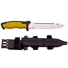 Steel Scuba Diving Knife Marine Dive Snorkel Shellfish Blunt Tip Serrated Blade