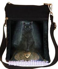 NEW * HIS MASTERS VOICE * BLACK CAT LISA PARKER SHOULDER  BAG NEMESIS