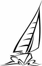 This is a sailboat making a wake, vinyl cut, great for car or laptop!!!