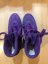 New Isabel Marant purple suede shoes sneakers built in hidden heel 41