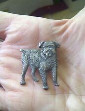 Vintage Kenart Griffon Brussels Bruxellois Ewok Toy Dog brooch silver plated
