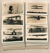 c1930 AVIATION HISTORY CARDS Near Set (45) Hermitage De l'Epinay WRIGHT BROTHERS