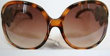 WOMEN SUNGLASSES Funky Butterscotch Large Frame BRAND NEW W/ TAG +Nylon Protect