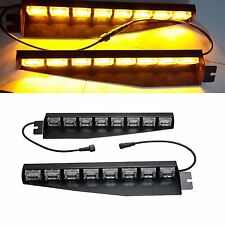 CREE48W 48LED AMBER EMERGENCY  WARNING STROBE VISOR SUCKER SPLIT DECK LIGHT BAR