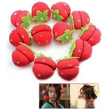 12pcs Foam Strawberry Balls Soft Sponge Hair Curlers Rollers Bun Round Tool _Z