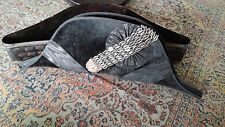 Vintage Court Dress Bicorn Hat with cut steel decoration and original tin box