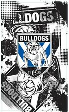 99621 CANTERBURY BULLDOGS NRL TEAM LOGO 90cm x 150cm CAPE / WALL FLAG