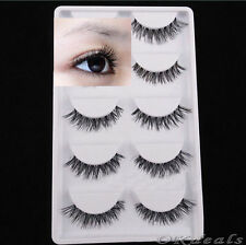 5X Lot Black Cross False Eyelash Soft Long Makeup Eye Lash Extension Good