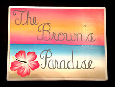 Hand Painted Address Wall Plaque House Sign Personalized Paradise Beach