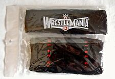 WWE WrestleMania Sweatband Set NEW Wrestling lucha Libre CA wwf moc tna