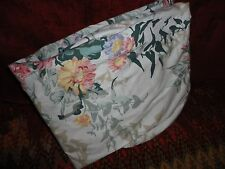 VINTAGE WASMUTTA FLORAL GARDEN GREEN MELON GOLD PINK TAUPE QUEEN FITTED SHEET