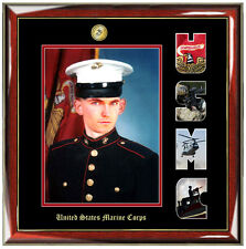 USMC Picture Frame Marine Corps Photo Letter Military Wall Plaque Soldier Gift