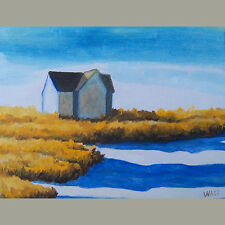 Provincetown Beach Cape Cod Original Oil Painting Impressionist Signed WASS