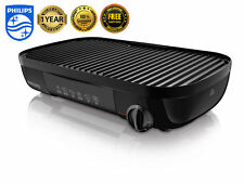 New Philips HD6321 Barbecue Outdoor BBQ Indoor Electric Grill Griddle Duo Plate