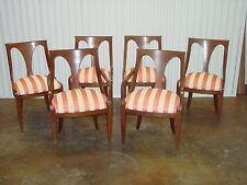 Danish Modern 50s KINDEL Belvedere Wood Spoonback Dining Chairs ~ Set of 6